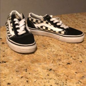 Boys checkered Vans size 1.5